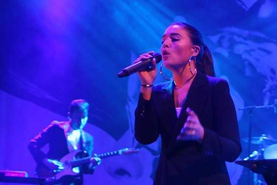 Jessie Ware live at the Fillmore last night. - ERIN BROWNER