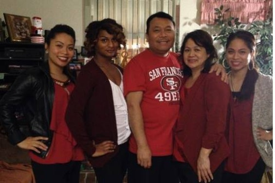 Jewlyes Gutierrez (second from left) and family.