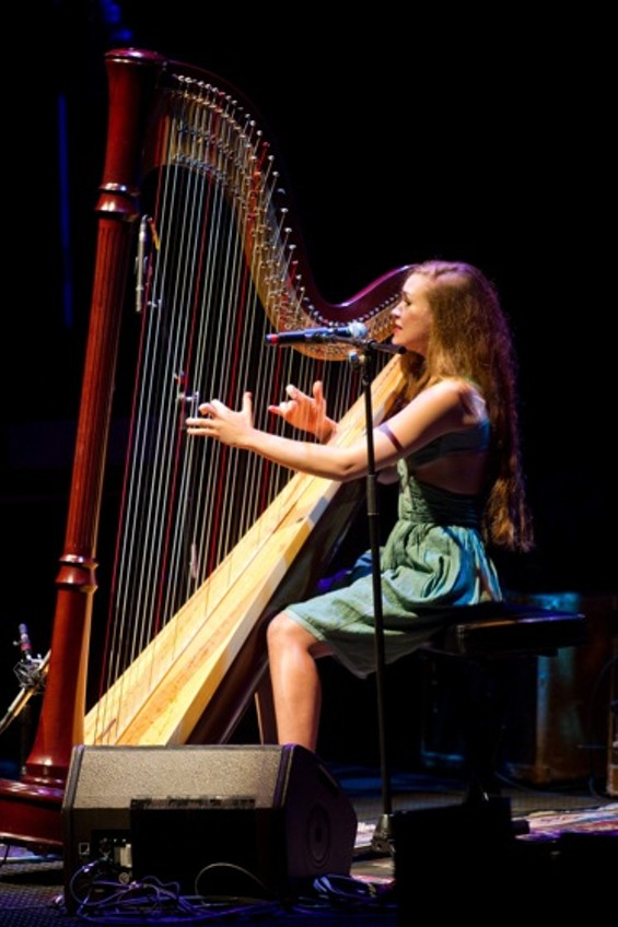 Joanna Newsom, who played before Neil Young