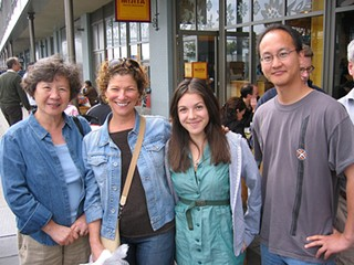 Joanne Weir (second from left) and a lot of strangers at Mijita in the Ferry Building. - EEKIM/FLICKR