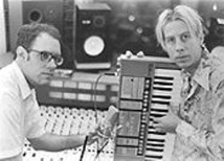 AKIM  AGINSKY - John Croslin and John Vanderslice, in the studio.