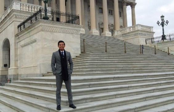 John Funtanilla explores the Capital on his first visit to D.C. to discuss social justice and gaming