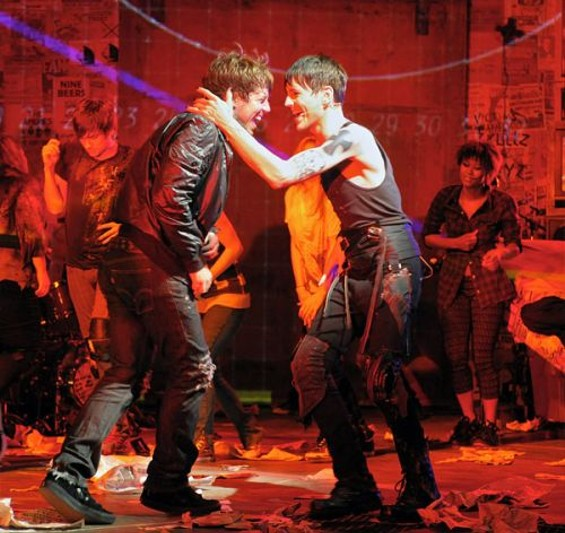 Johnny (John Gallagher Jr.) and St. Jimmy (Tony Vincent) in American Idiot. - IMAGE COURTESY OF: COURTESY OF MELLOPIX.COM