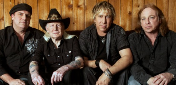 Johnny Winter, second from left, with his band.