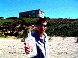 GARRETT  KAMPS - Jon Bernson, an empty bottle of booze, and - the inspiration for Ray's Vast Basement.