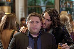 Jonah Hill and Russell Brand star in this amiable and occasionally uproarious comedy.