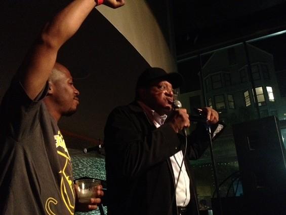 JR of Block Report Radio and Black Panthers co-founder Bobby Seale. - TAMARA PALMER