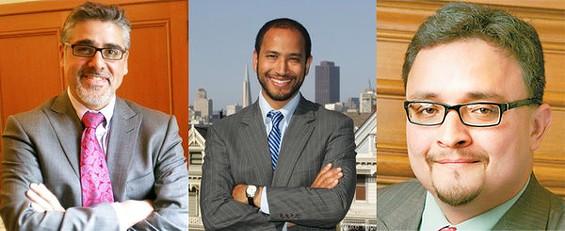 Julian Davis, middle, has lost endorsements from Supervisors John Avalos, David Campos, and the Guardian - CENTER PHOTO: LUKE THOMAS