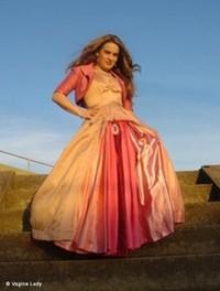 Julie Vanadis and her vagina dress