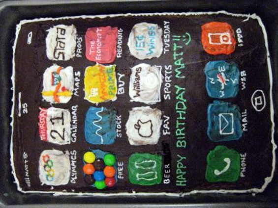 Just when you thought it couldn't get nerdier, The Economist app, in pastry form. - CAKE VIA CAKES-YOU-CAN-BAKE.COM