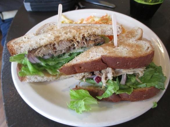 "Kalua Pork ""Aloha Banh Mi"" at Montara Café and Bakery - TREVOR FELCH"