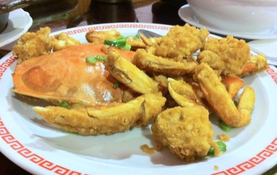 "Kam Lok's salt-and-pepper crab, part of a $38 ""harmonized"" meal. - JONATHAN KAUFFMAN"