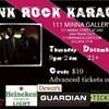 Karaoke Opportunities: Punk Rock Singalong at Minna Gallery 12/6