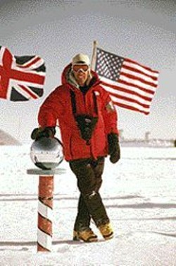 PHOTOGRAPH COURTESY OF DEAN KARNAZES - Karnazes: First to run to the South Pole.
