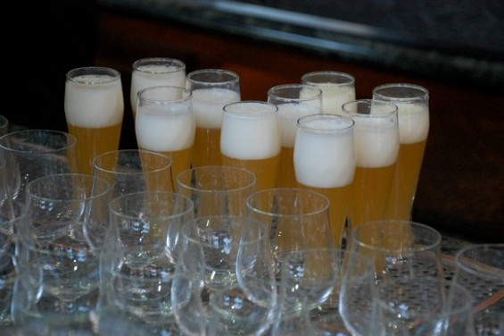Kellerweis is served in its own unique glass, to allow the beer to slide out from under the head. - PETE KANE