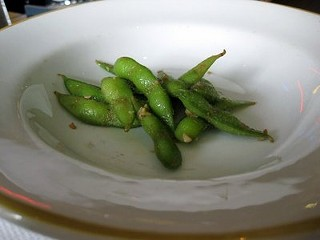 Ken Ken's chile-garlic edamame. - LUIS CHONG