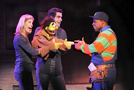 Kerri Brackin (left to right), Nicky, Jason Heymann, Nigel Jamaal Clark in Avenue Q. - JOHN DAUGHTRY