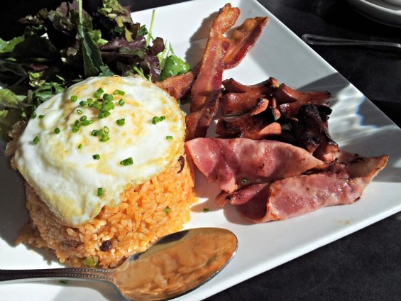 Ketchup fried rice at Fused in the Tenderloin. - PETE KANE