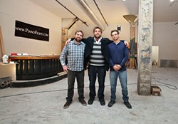 Kevin Fink, Rob Ready, and Dan Williams have discovered how to make money off of theater: booze.