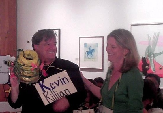 Kevin Killian and Sylvia Brownrigg share the title but will have to fight over who gets the bee.