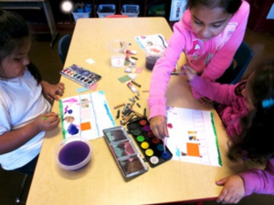 Kids participating in a Root Division art class. - ROOT DIVISION