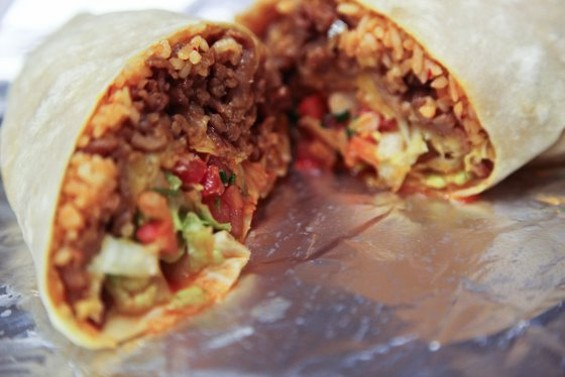 Kimchi burrito from John's Snack and Deli, $6.25 ($8.25 with kalbi). - KEVIN HENDERSON