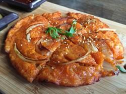 Kimchi pancake. - PETER LAWRENCE KANE