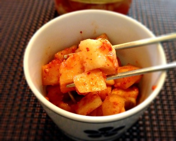 Kimchi radish by Sinto Gourmet. - MEAVE GALLAGHER