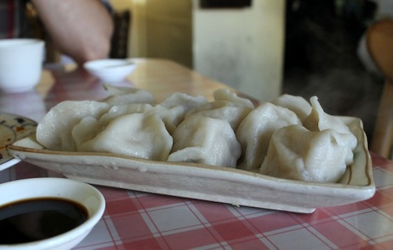 Kingdom of Dumpling's boiled dumplings with pork and napa cabbage - KATE WILLIAMS