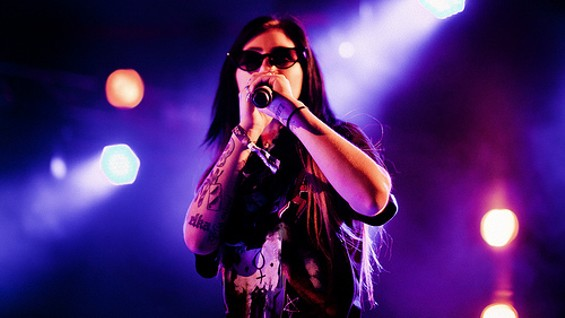 Kreayshawn performs at 1015 on January 4. - FLICKR/NRK P3
