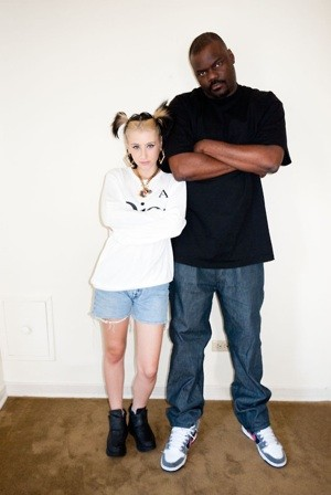 Kreayshawn with her manager, Bay Area hip-hop mogul Stretch. Photo via Terry Richardson's Tumblr. - TERRY RICHARDSON