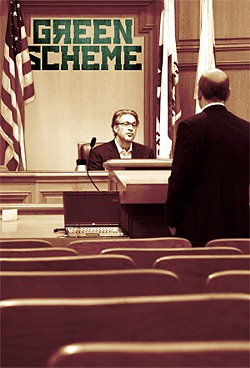 JOSH EDELSON - LAFCo chairman Ross Mirkarimi discussed green-power proposals with consultant Paul Fenn on Dec. 12.