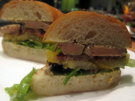 Lafitte's enhanced BLT shows up at lunch, and at the restaurant's monthly midnight suppers. - CARINA OST