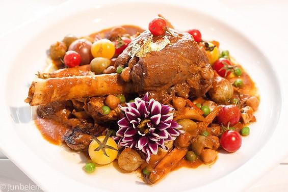 Lamb shank caldereta by Cocoy Ventura, chef at Mina in Las Vegas. - JUN BELEN