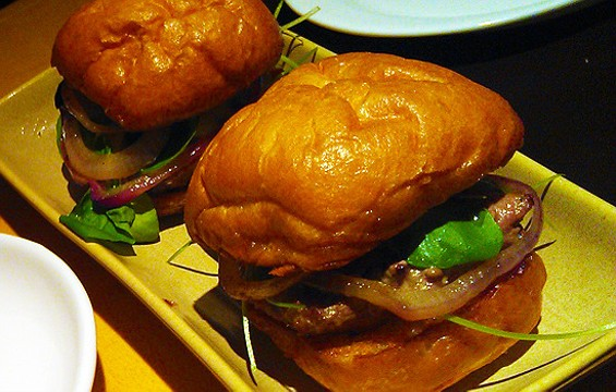 Lamb sliders at Brasserie S&P - WENDY HECTOR