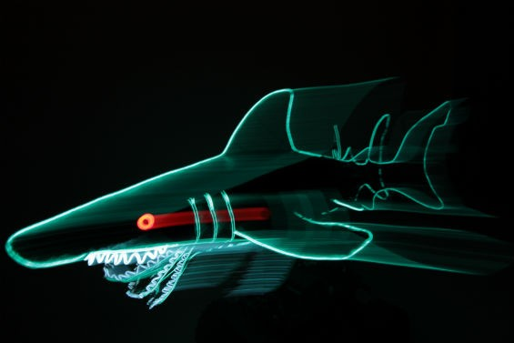 """Land Sharks,"" the creation of artist and maker Todd Williams - CHIP SCHEUER"