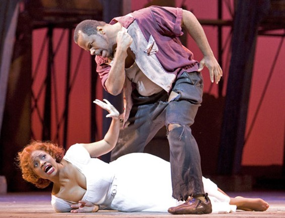 Laquita Mitchell (Bess) and Lester Lynch (Crown) - CORY WEAVER