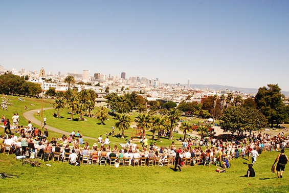 Last year's Slow Food Nation eat-in at Dolores Park is serving as a national model. - SARAHMROOS/FLICKR