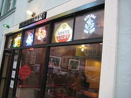 Late weekend hours and beer discounts might be the tastiest things here. - M. BRODY