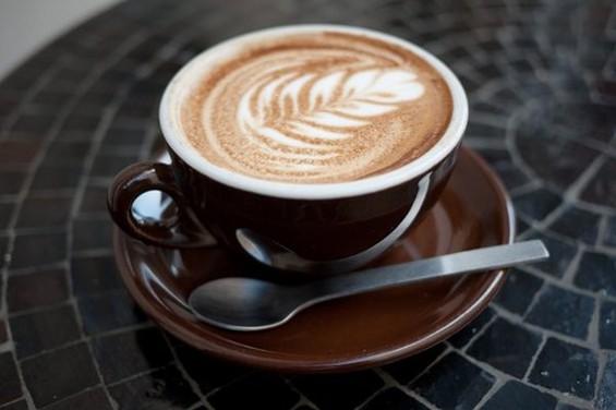 Latte art at Farm:Table, a stop on Saturday's Tenderloin Coffee Crawl. - PHIL Y./YELP