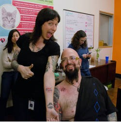 Laura Gretch and Jackson Galaxy now sport matching ink.