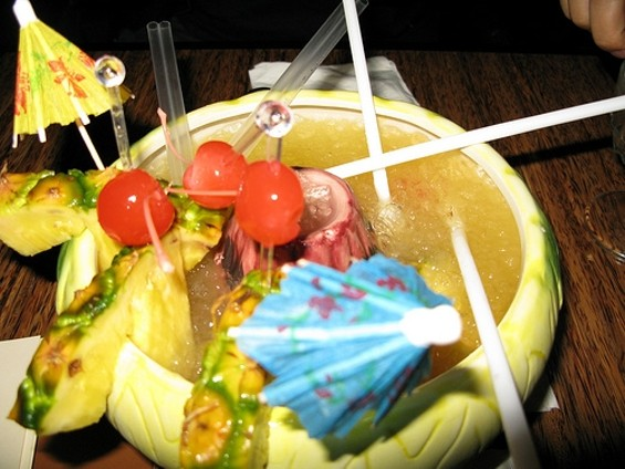 Lava bowl for four ― the bar's fairly extensive happy hour spread offers its share of deep-fried, sweet-and-sour landmines. - ZEMISTOR/FLICKR