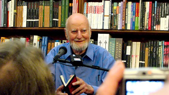 Lawrence Ferlinghetti at City Lights - VOXTHEORY / FLICKR