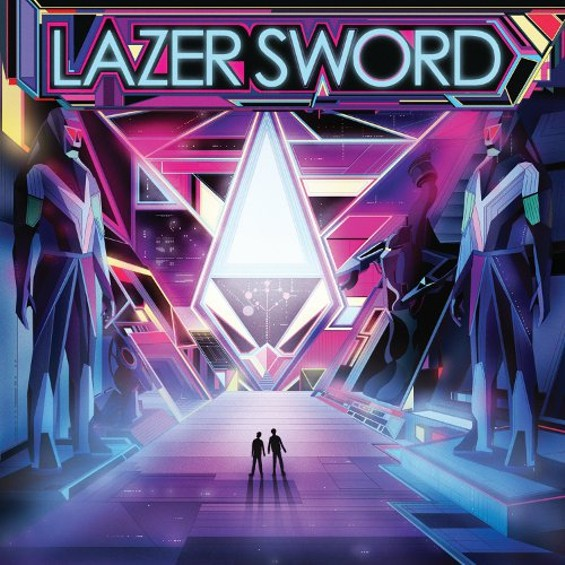 LAZER SWORD'S SELF-TITLED ALBUM'S COVER ART