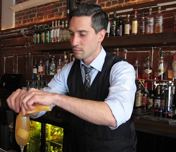 Lead bartender Josh Trabulsi - LOU BUSTAMANTE
