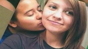 Lesbian couple shot