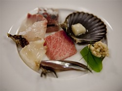 JEN SISKA - Less is more with the tastefully plated flight of fish.