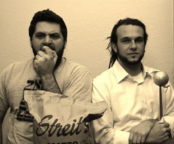 Let them feed you: Evan Bloom and Leo Beckerman. - MEGAN ROSE MARTIN