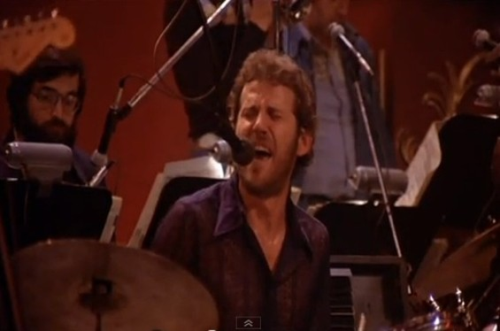 Levon Helm with the Band in San Francisco, 1976.