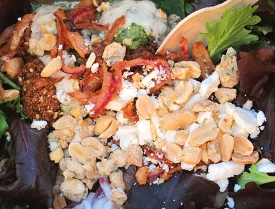 Liba Falafel's salad - LOU BUSTAMANTE